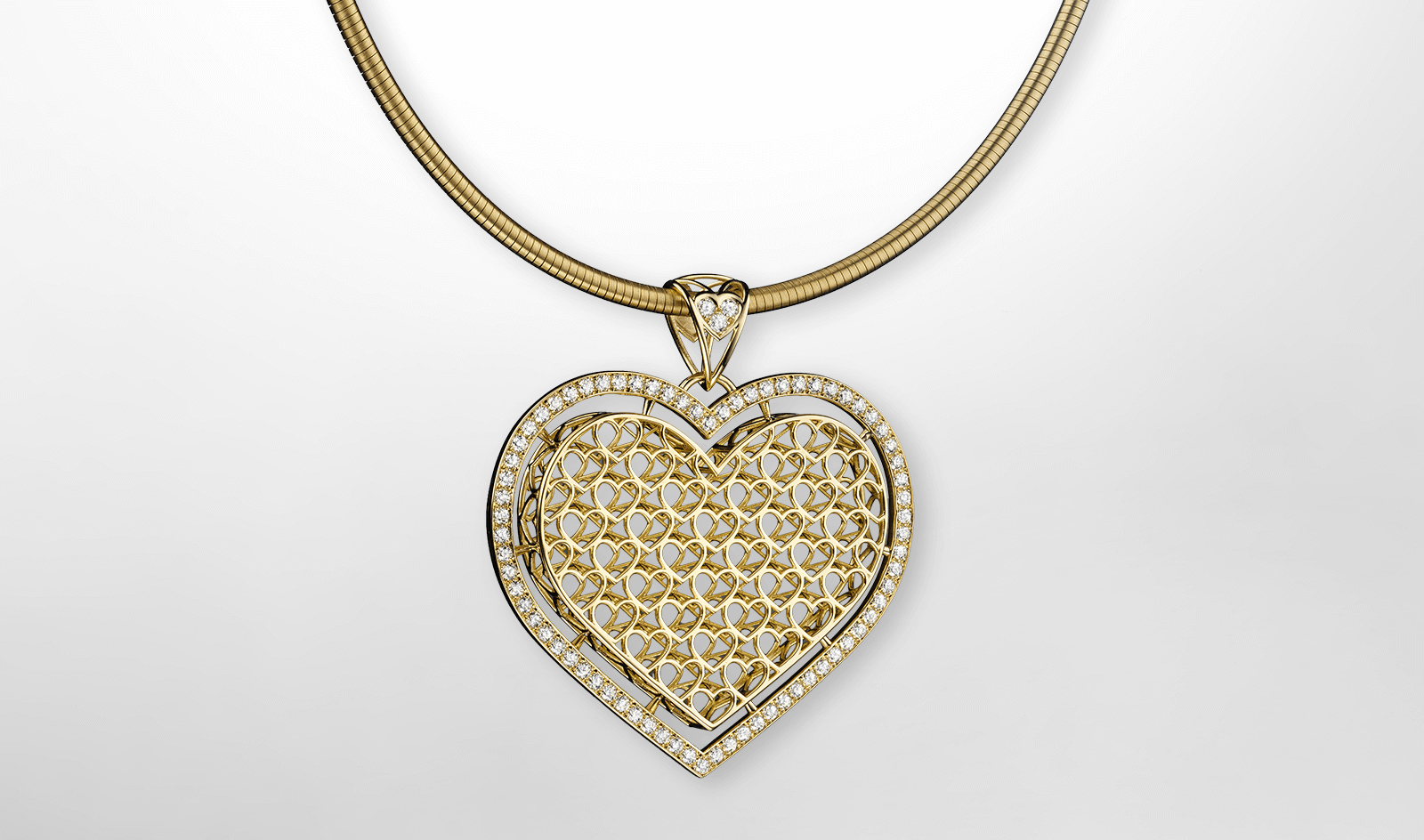 Pendant Heart Yellow Gold